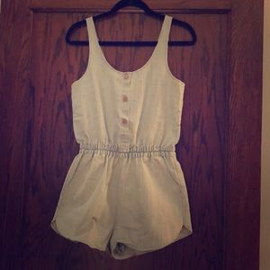 Sparkle and Fade Chambray Romper